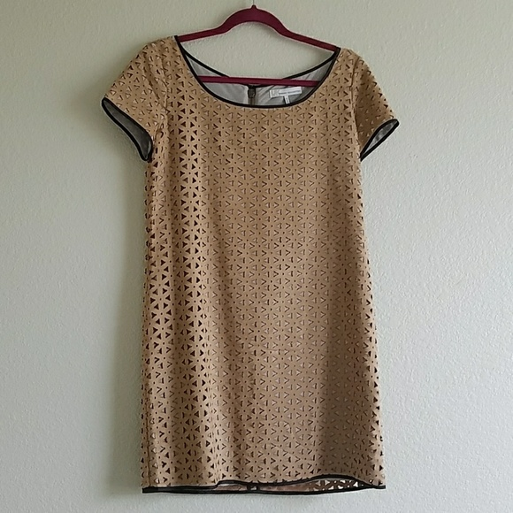 FRENCH CONNECTION laser cut side shift dress